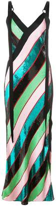 Diane von Furstenberg candy stripe maxi dress
