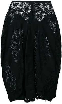 Comme des Garcons Junya Watanabe Pre-Owned draped lace skirt
