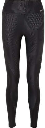 Nike Power Printed Dri-fit Stretch Leggings - Black