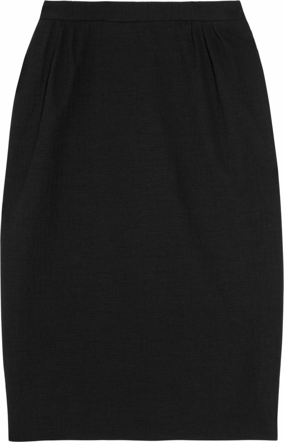 Moschino Cheap & Chic Moschino Cheap and Chic Textured cotton-blend pencil skirt