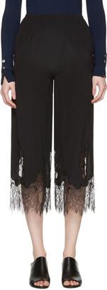 McQ Alexander Mcqueen Black Fluid Lace Trousers $480 thestylecure.com