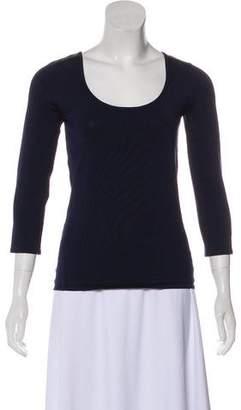 Ralph Lauren Black Label Silk-Blend Knit Top