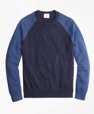 Brooks Brothers Color-Block Cotton-Cashmere Sweater