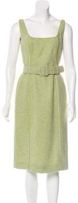 Luisa Beccaria Sleeveless Midi Dress