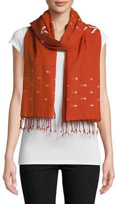 Eileen Fisher Organic Cotton Fringe Scarf