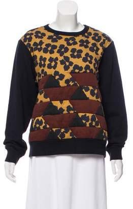 Dries Van Noten Quilted Floral Sweatshirt