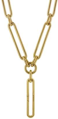 Foundrae Oversized Clip with Clip Annex Link Necklace - Yellow Gold