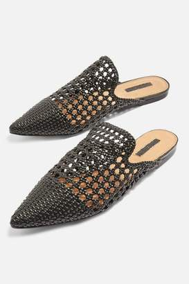 Knot woven mules
