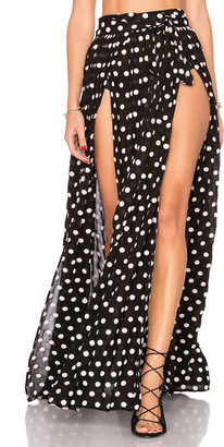 Mara Hoffman Embroidered Slit Front Skirt $260 thestylecure.com