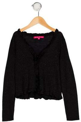 Derhy Kids Girls' Knit Ruffle Cardigan