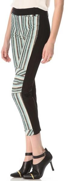 Derek Lam 10 crosby Three Tone Striped Pants