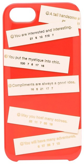 Kate Spade Fortunes Phone Case for iPhone 5 and 5s (Maraschino) - Electronics