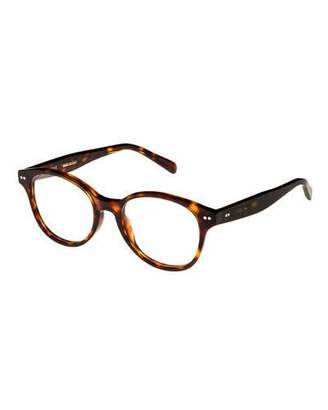 Celine Round Acetate Optical Frames, Espresso