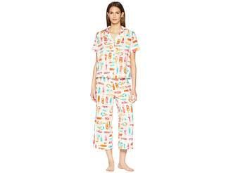 Kate Spade Ice Cream Print Cropped Pajama Set Women's Pajama Sets