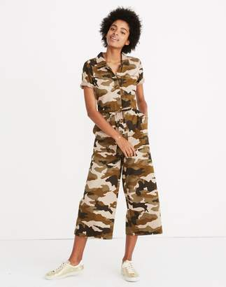 Madewell Wide-Leg Utility Jumpsuit in Cottontail Camo