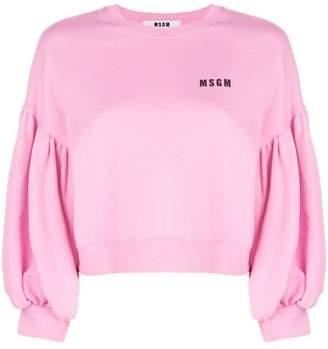 MSGM balloon sleeve sweatshirt