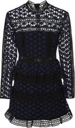 Self Portrait High Neck Star Lace Dress $435 thestylecure.com