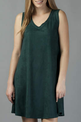 Another Love Jane Knit Suede V-Neck Swing Dress