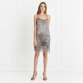 Rachel Zoe Della Metallic Fringe Mini Dress