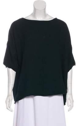 Black Crane Oversize Short Sleeve Top