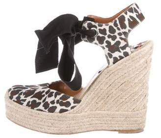 Stella McCartney Printed Espadrille Wedges