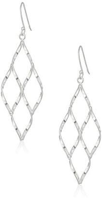 Sterling Open Diamond-Shape Drop Earrings