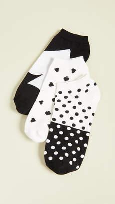 Kate Spade 3 Pack Spades Ankle Socks
