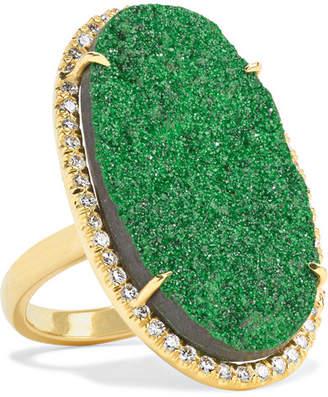 Kimberly McDonald - 18-karat Gold, Uvarovite Garnet And Diamond Ring
