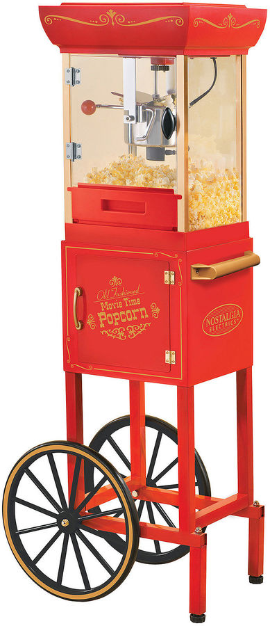 Nostalgia Electrics CCP400 Vintage Collection Old Fashioned Movie Time Popcorn Cart