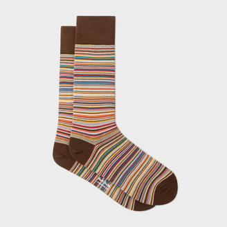 Men's Narrow Signature Stripe Socks $35 thestylecure.com