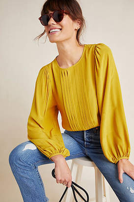 Ro & De Colette Pleated Blouse