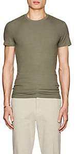 ATM Anthony Thomas Melillo MEN'S RIB-KNIT T-SHIRT - OLIVE SIZE L