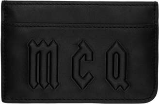McQ Black Logo Card Holder