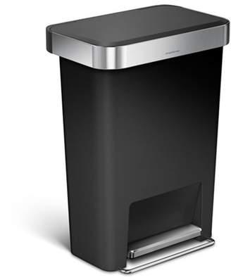 Simplehuman 45L Rectangular Step Trash Can Black