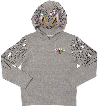 Cut-Outs Cotton Jersey T-Shirt Hoodie