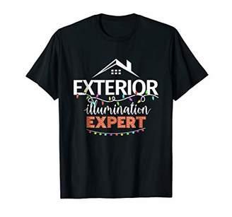Funny Exterior Illumination Expert Christmas Lights Tshirt