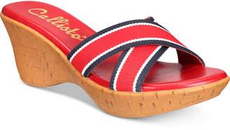 Callisto Segway Slide Platform Wedge Sandals Women's Shoes