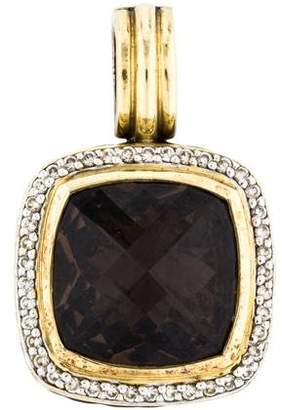 David Yurman Smoky Quartz & Diamond Albion Enhancer Pendant