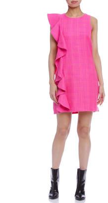 Julie Brown REINA ラッフル ドレス ラズベリーツイード 2