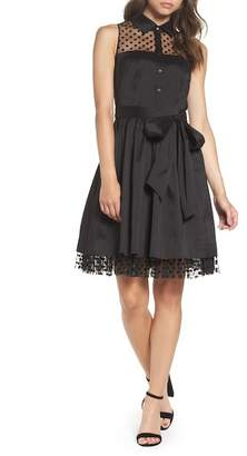 Eliza J Pleated Shirtdress