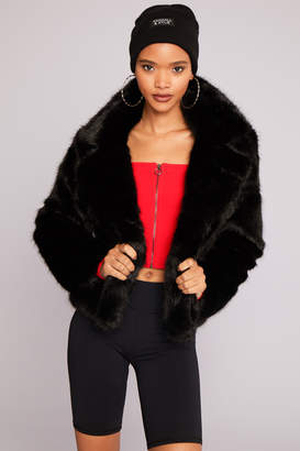 KENDALL + KYLIE Ardene Kendall & Kylie Crop Faux Fur Jacket