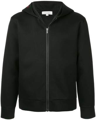 CK Calvin Klein sculpted double face hooded track jacket