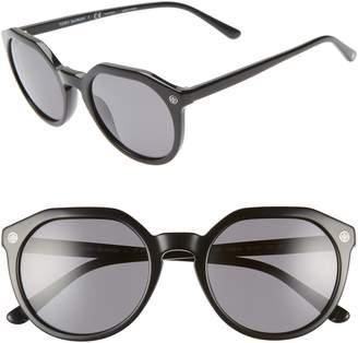Tory Burch 52mm Polarized Round Sunglasses