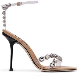 Sergio Rossi rhinestone embellished sandals