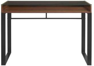 Walker Edison 42 Modern Glass Top Desk