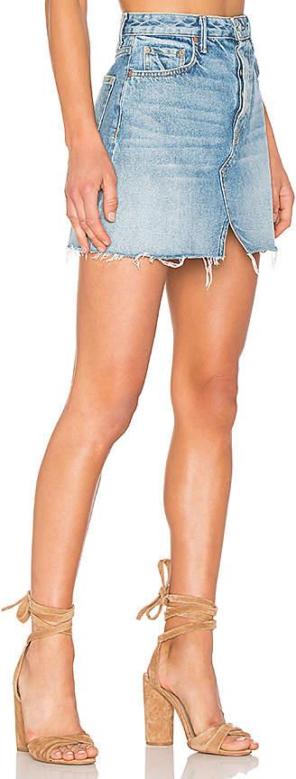 GRLFRND x REVOLVE Milla Denim Mini Skirt 3