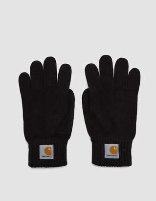 Carhartt Wip Watch Knit Gloves in Black