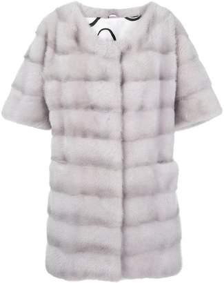 Simonetta Ravizza Dari short sleeve panel coat