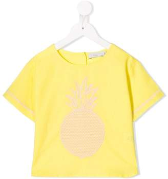 Stella McCartney pineapple embroidered top