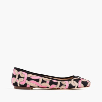 Camille ballet flats in deco print $188 thestylecure.com
